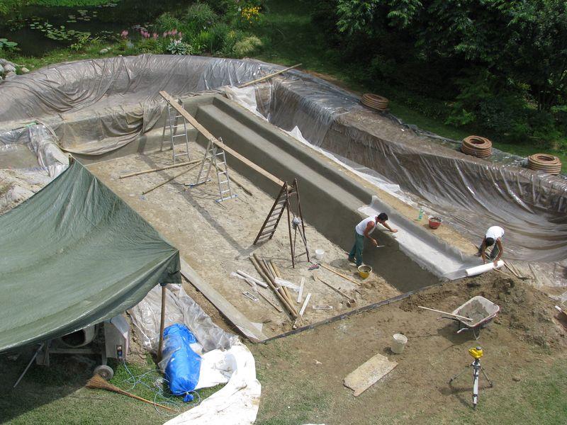 La bio piscina all 39 ombra del grande pioppo realizzazione for Bio piscina