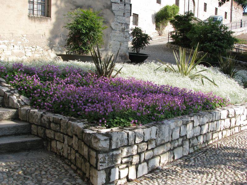 Il giardino del castello realizzazione giardino grechi for Aiuole profumate